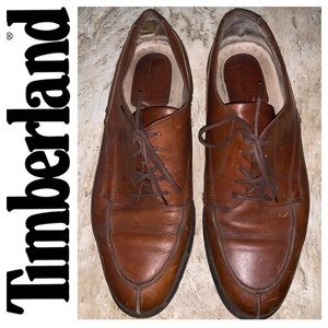 Timberland Brown Oxford Leather Shoes. Size 9.5W